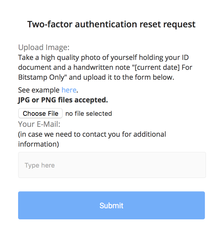Two-Factor Authentication (2FA) - Bitstamp