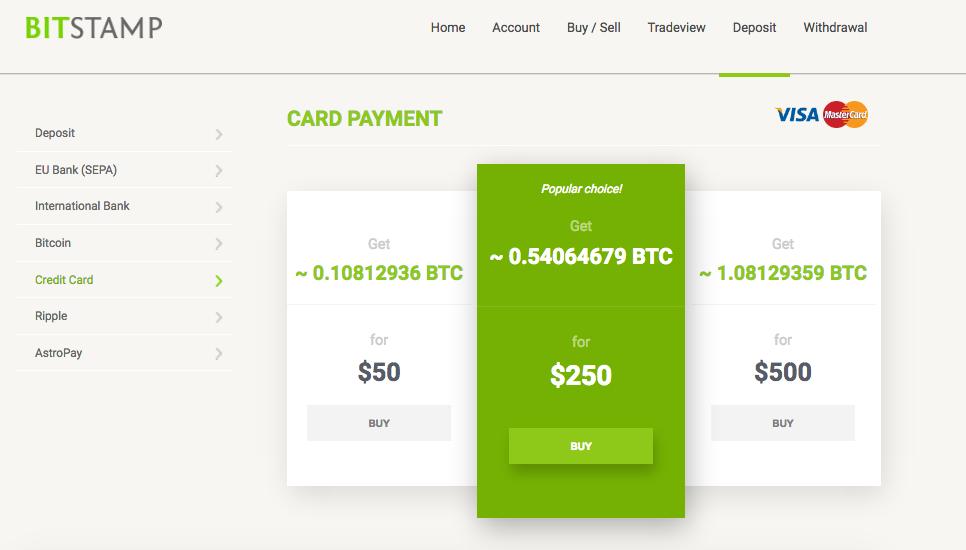 buy bitcoin exchange